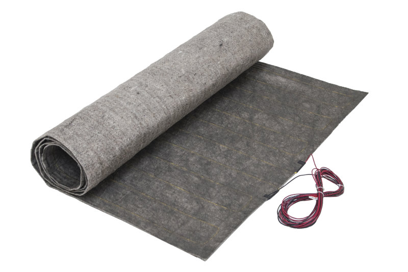 ThermoFloor mats with pre- attached underlayment is ideal for floating laminate floors. No extra padding needed. Just lay mats out, install flooring, and enjoy!